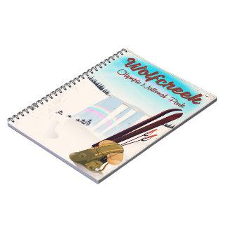 Caderno Espiral Cartaz olímpico do viagem do parque nacional de