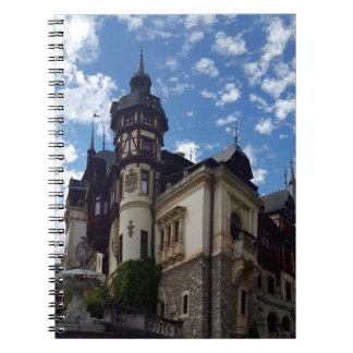 Caderno Espiral Castelo Peles em Sinaia, Romania.