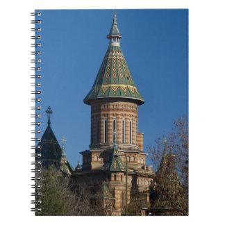 Caderno Espiral Catedral de Mitropolitan, Timisoara, Romania