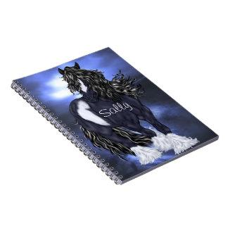 Caderno Espiral Cavalo de esboço aciganado de Vanner personalizado