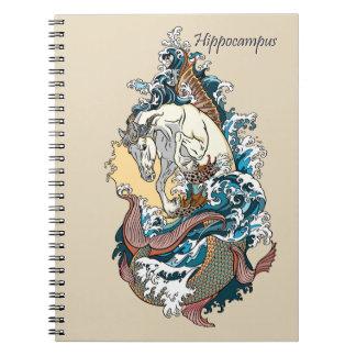 Caderno Espiral cavalo de mar mitológico