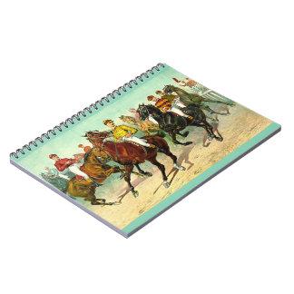 Caderno Espiral Cavalos de corrida 1893