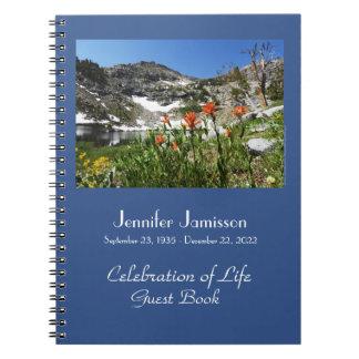 Caderno Espiral Celebração de Wildflowers alpinos do livro de
