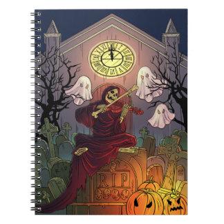 Caderno Espiral Cemitério da assombração do Ceifador & dos
