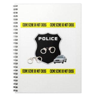 Caderno Espiral Cena do crime da polícia