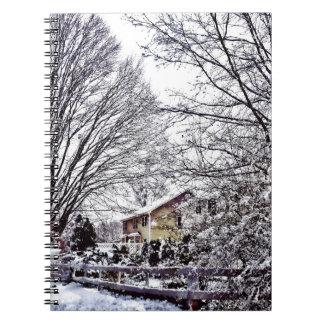 Caderno Espiral Cena do inverno