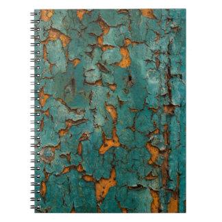 Caderno Espiral Cerceta & pintura amarela da casca
