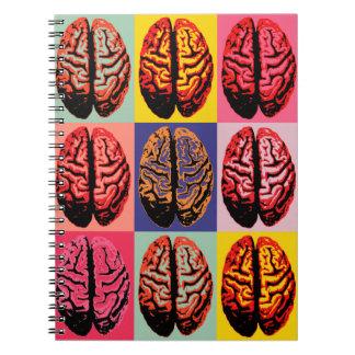 Caderno Espiral Cérebro do pop art