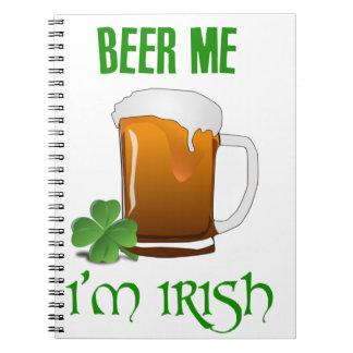 Caderno Espiral Cerveja mim eu sou irlandês