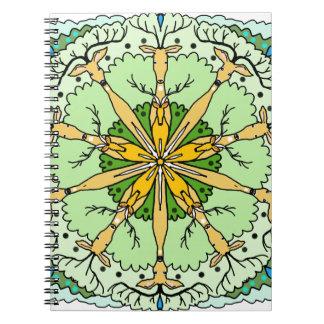 Caderno Espiral Cervos do caleidoscópio