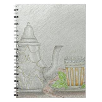 Caderno Espiral chá com hortelã