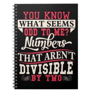 Caderno Espiral Chalaça da matemática impar