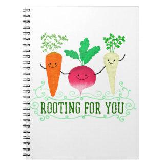 Caderno Espiral Chalaça positiva da raiz - enraizando para você
