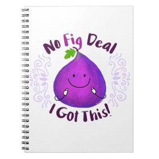 Caderno Espiral Chalaça positiva do figo - nenhum negócio do figo
