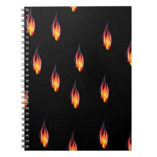 Caderno Espiral Chamas do fogo