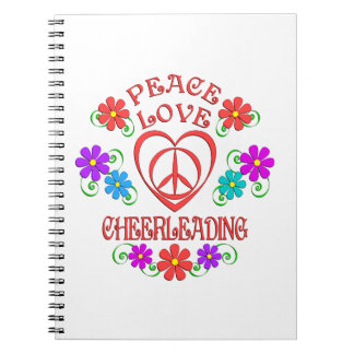 Caderno Espiral Cheerleading do amor da paz