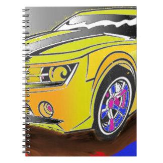 Caderno Espiral Chevy Camero