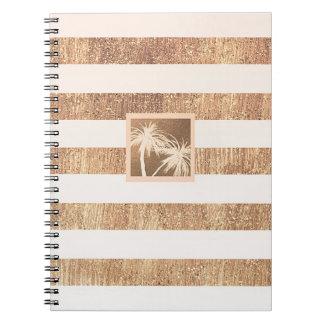 Caderno Espiral Chique moderno das palmeiras tropicais do cobre &