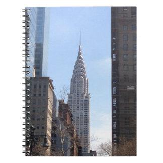 Caderno Espiral Chrysler que constrói o Midtown do arranha-céus da