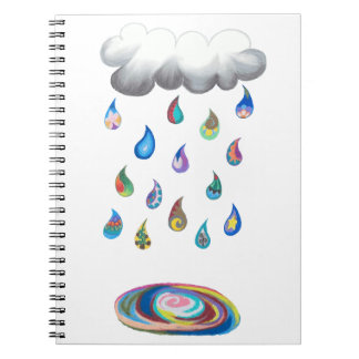 Caderno Espiral Chuva irrisório Noebook