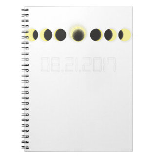 Caderno Espiral Ciclo total do eclipse solar