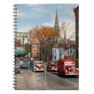 Caderno Espiral Cidade - Amsterdão NY - Amsterdão do centro 1941
