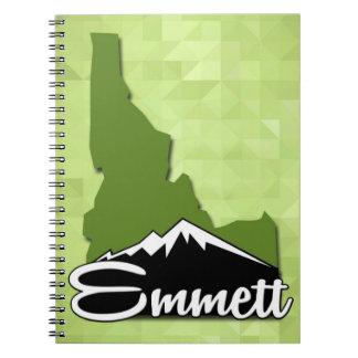 Caderno Espiral Cidade natal de Emmett Idaho Idahoan Gem County