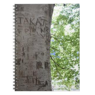 Caderno Espiral Cinzelado em uma fotografia da natureza do Central