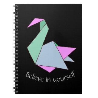Caderno Espiral Cisne de Origami