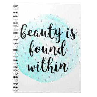 Caderno Espiral Citações da beleza da aguarela