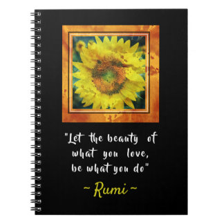 Caderno Espiral Citações inspiradas de Rumi