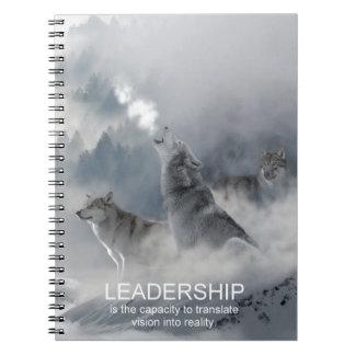 Caderno Espiral citações inspiradas inspiradores da liderança