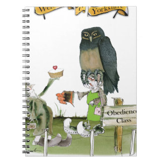 Caderno Espiral classe da obediência de yorkshire do amor