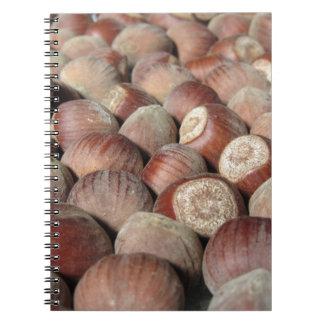 Caderno Espiral Close up da fruta do outono do fundo da comida das