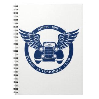 Caderno Espiral Clube de automóvel do vôo