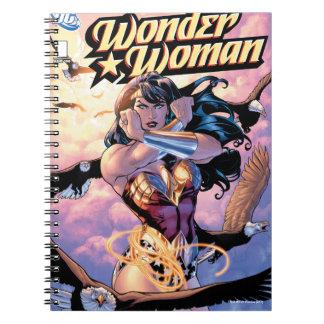 Caderno Espiral Cobrir cómico #1 da mulher maravilha
