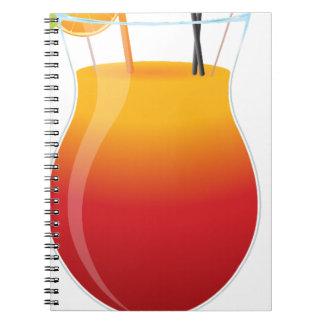 Caderno Espiral Cocktail das caraíbas