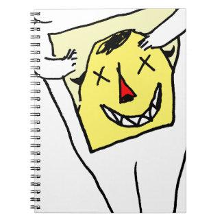 Caderno Espiral Coelho branco