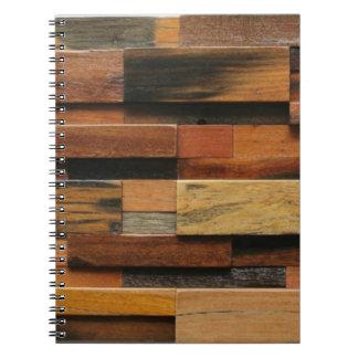 Caderno Espiral Colagem de madeira Textured multicolorido