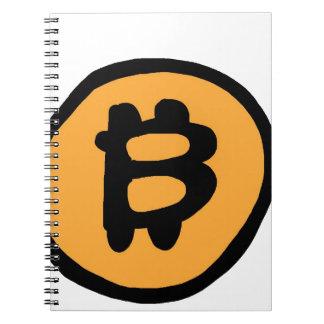 Caderno Espiral coleção do bitcoin
