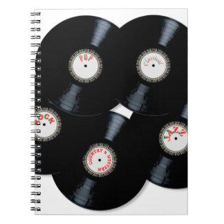 Caderno Espiral Coleção do vinil