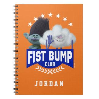 Caderno Espiral Colisão do punho dos troll |