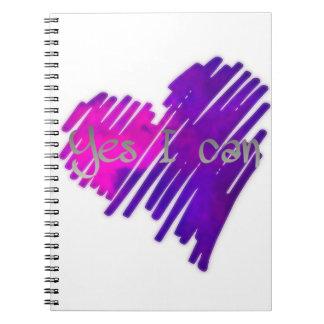 Caderno Espiral Colorido sim eu posso