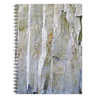 Caderno Espiral Coluna branca estreita da rocha