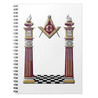 Caderno Espiral Colunas maçónicas
