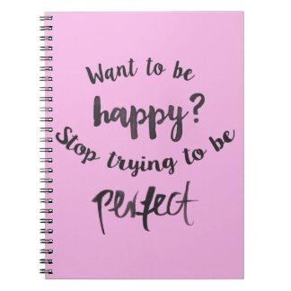 Caderno Espiral Confiança, citações inspiradores da atitude da