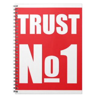 Caderno Espiral Confiança ninguém