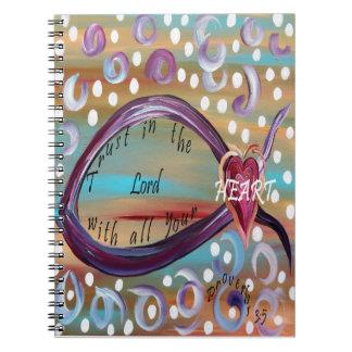 Caderno Espiral Confiança no senhor Com Todo Seu Coração