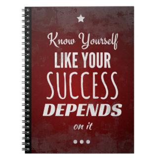 Caderno Espiral Conheça-se como seu sucesso depende dele