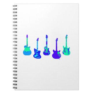 Caderno Espiral Conjunto da guitarra